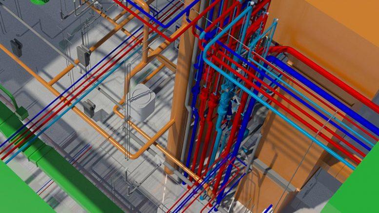 Sanha unterstützt den Planungsprozess für Rohrleitungsnetze durch die Bereitstellung der Daten im BIM Revit-Format. Abbildung: Sanha GmbH & Co. KG, Essen
