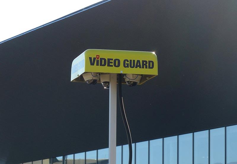 Dank drei hochauflösender Kameras mit unterschiedlichem Öffnungswinkel bewacht Video Guard Professional große Flächen lückenlos. Foto: Video Guard