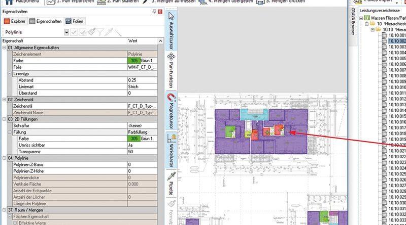 Aufmaß-System zur grafischen Mengenermittlung: GRAVA 2019