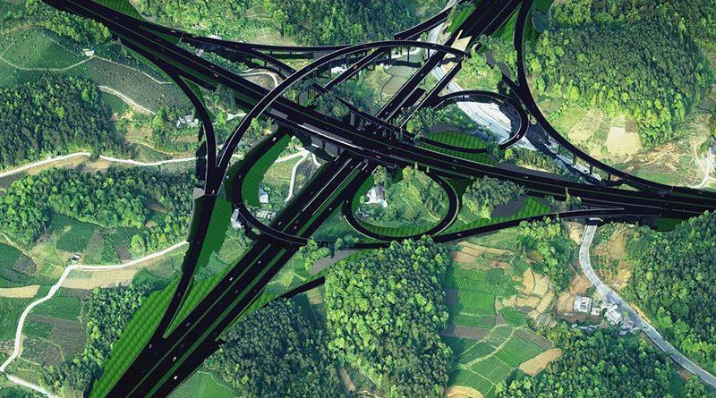 Meitan-Shiqian Expressway in der Guizhou Provinz. Bild mit freundlicher Genehmigung von Chongqing Traffic Planning, Survey and Design Institute