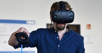 Digitale Möglichkeiten helfen, den Bauprozess zu optimieren. Durch Virtual Reality sind Gebäude digital erlebbar. Foto: FH Münster/Katharina Kipp