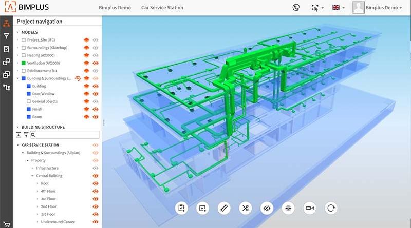 Projektnavigation mit Allplan Bimplus. Bildquelle: ALLPLAN GmbH