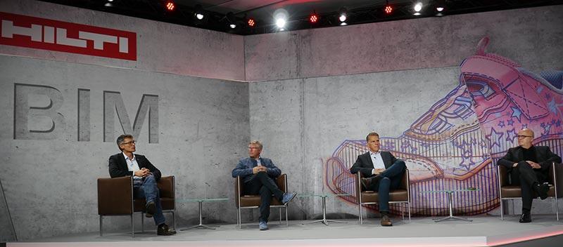 v.l.nr.: Volkmar Kinzel (Hilti Entwicklungsgesellschaft mbH), Olaf Demuth (Zech Group AG), Dr. Stefan Nöken (Hilti AG), Heinz-Willi Cranen (Carpus & Partner AG)