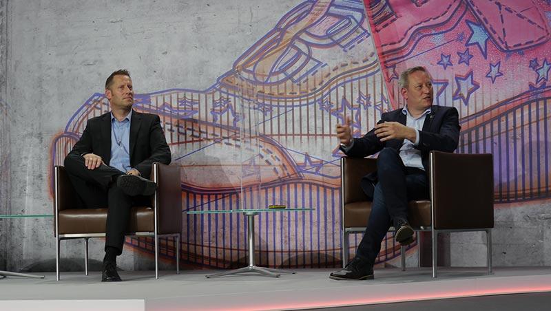 v.l.n.r.: Markus Schmitz (Hilti Deutschland AG) und Thomas Kleist (Uniball Rodamco Westfield mfi Development GmbH)