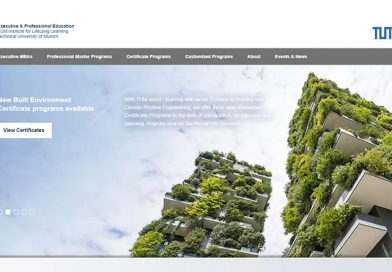 Screenshot: Internetseite der TUM